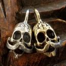 18NT-AMSK001 : PENDANT-TOP/ MEXICAN MUSTACHE SKULL