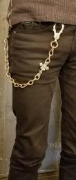 18WCB-HS001BC : BRASS WALLET CHAIN HORSESHOE