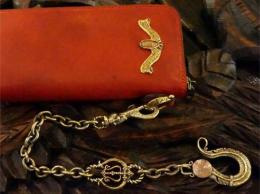 16WCB-FE002BC : FEATHER HEAD WALLET CHAIN