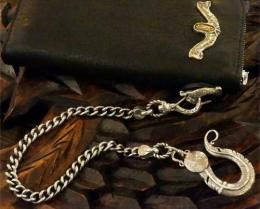 16WCS-FE003S : FEATHER HEAD WALLET CHAIN