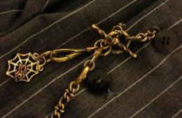 BLACK SIGN & galcia : POCKET WATCH CHAIN - LONG