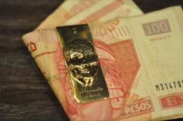 MC006B : MONEY CLIP / SUGAR SKULL