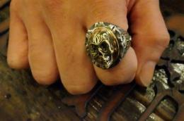 R-MM113 : OVAL MEXICAN RING CALAVERA & OWL