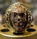 R-MM009BC : ORIGINAL MEXICAN CALAVERA OWL RING