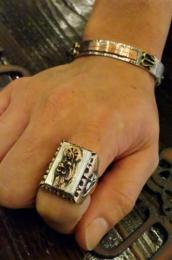 R-MM208CS : MEXICAN SANTAMUERTE RING