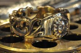 R-MFC007 : Flower Carving & SUN,MOON RING