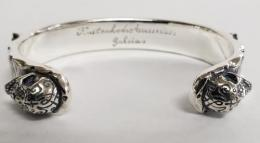 17B-BR-LPB002 : LETTERED PLATE BANGLE / SMALL 12mm