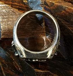 18R-RE001R2-SS : RECTANGLE RING / ANCHOR & SWALLOW