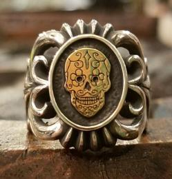 18R-NM102 : NATIVE MEXICAN RING SUGAR SKULL