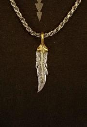 18NT-FEH101 : PENDANT / L-R FEATHER