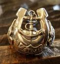 18R-MHS005SS : Horseshoe & ANCHOR & SWALLOW RING L