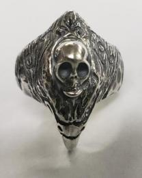 19R-EGH001SS : EAGLE & SKULL RING